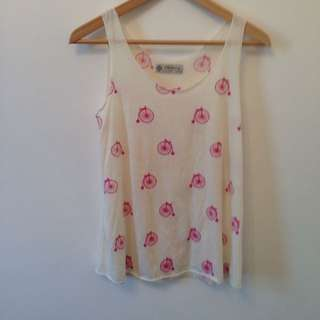 Patterned Top Sz S