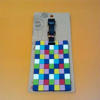 Checkered Colourful Luggage Tag