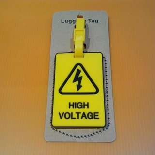High Voltage Luggage Tag