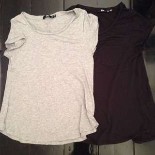 Grey And Black Sportsgirl T-shirt Sz XXS And XS