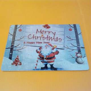 Silver Merry Christmas Puzzle A5 Size