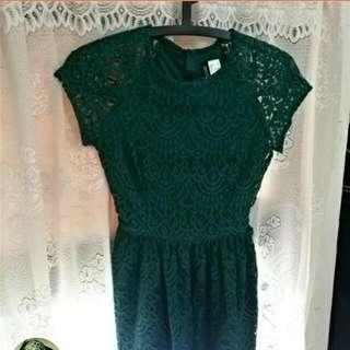 H&M蕾絲洋裝(含郵)