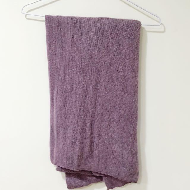 紫色針織圍巾