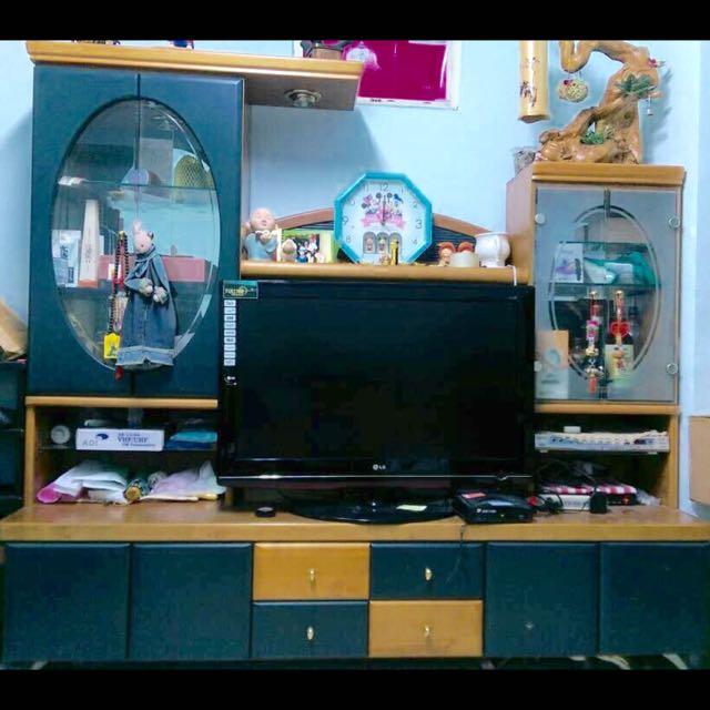 [一折出清送酒櫃]實木電視櫃 酒櫃 搬家便宜出清 六成新