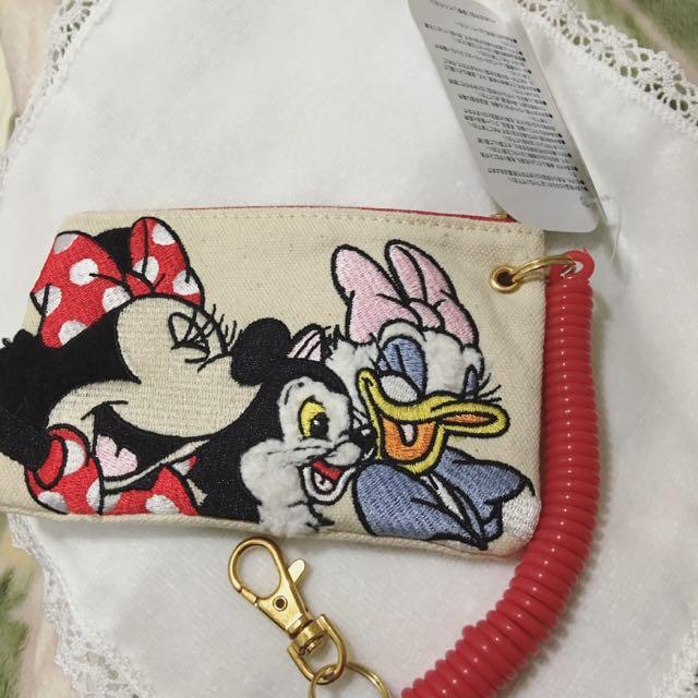 日本迪士尼帶回 票卡夾 零錢包 米妮 黛西