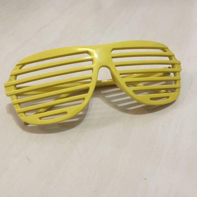 太陽眼鏡 造型 鏡框 眼鏡 派對造型 Cosplay 黃色