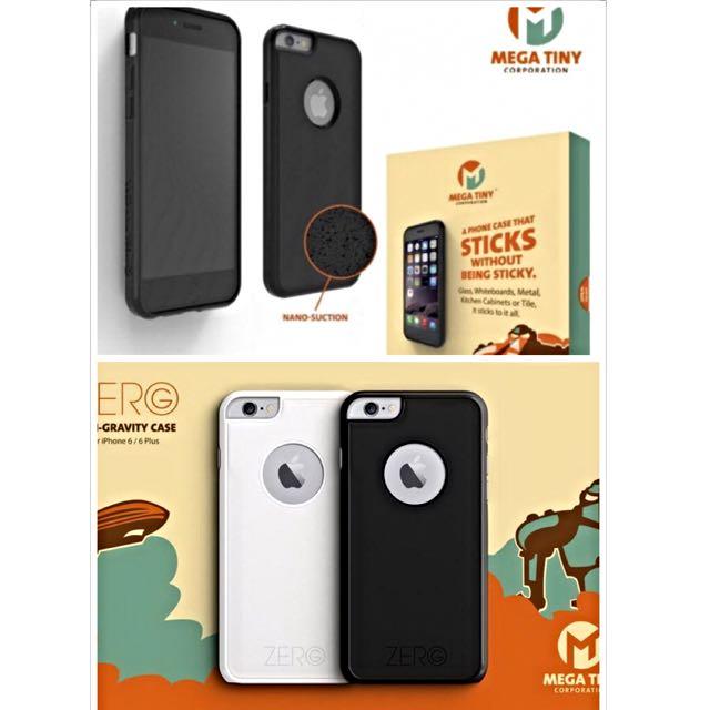 (已售出)[小謝叔叔] (自拍神器)Mega Tiny奈米抗重力手機殼加贈犀牛盾(灰)。 iPhone 6s Plus專用