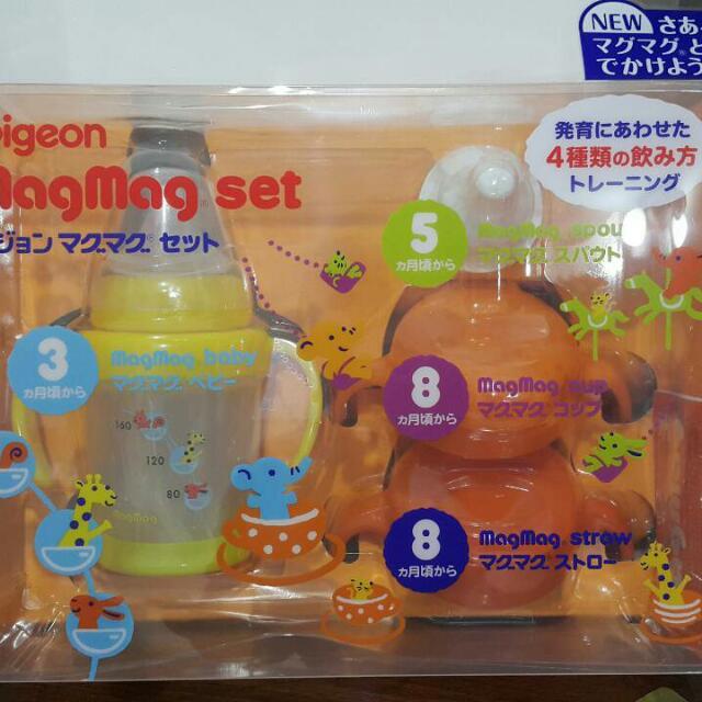 全新 日本《Pigeon貝親》莫哭學習套杯組