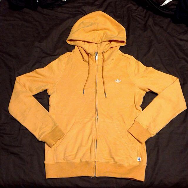 adidas_originals 黃色連帽外套