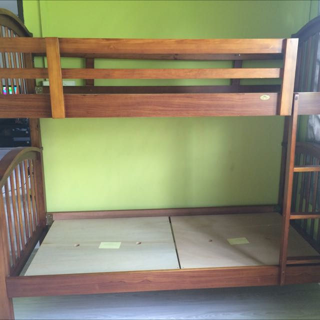 Double and Single Bed (Wood)