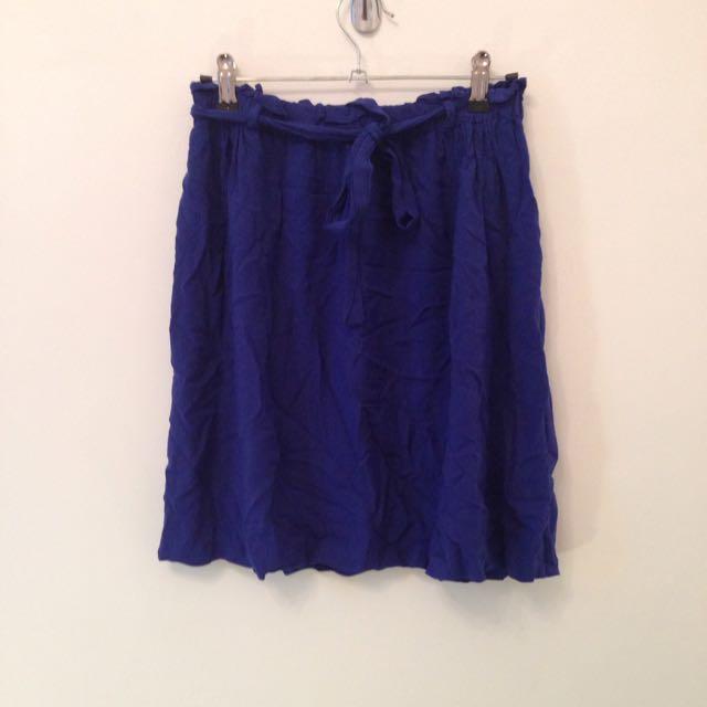 Drawstring Skirt Sz 8 New Look