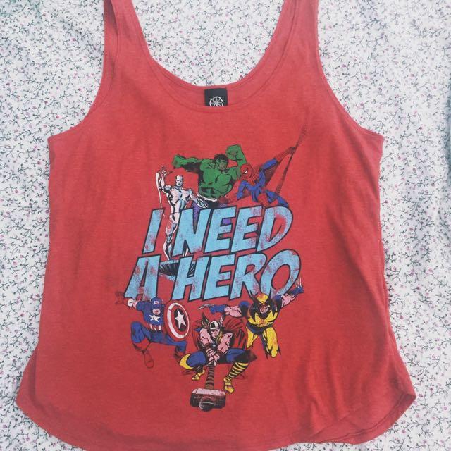 676f849509d63 Forever 21 Marvel Superhero Tank Top