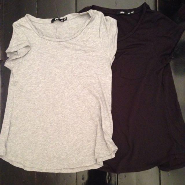 Grey And Black Sportsgirl T-shirt Sz XXS And XS