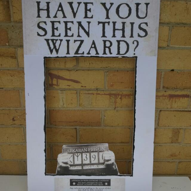 Handmade Harry Potter Photobooth Prop - Sirius Black Wanted Poster