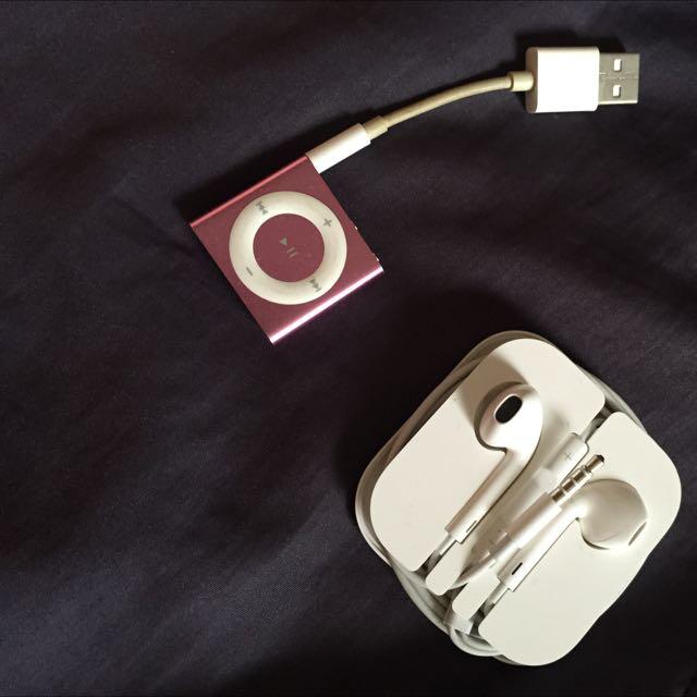 iPod Shuffle 2010年 附6s耳機