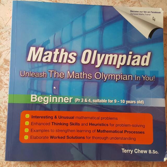 Math Olympiad (Beginner & Intermediate), Books & Stationery on Carousell