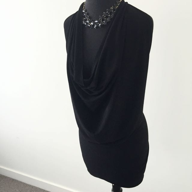 Sexy Cowl Neck Dress