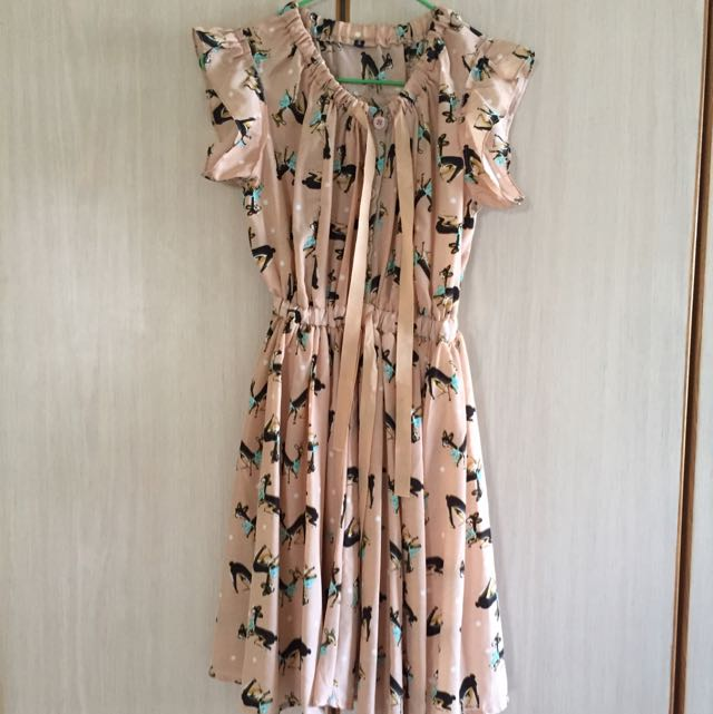 Soft Chiffon Printed Flare Dress