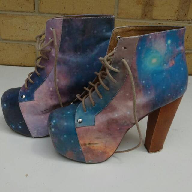 Sz 6 Galaxy Jeffrey Campbell Lita Heels - Much Loved As You Can See