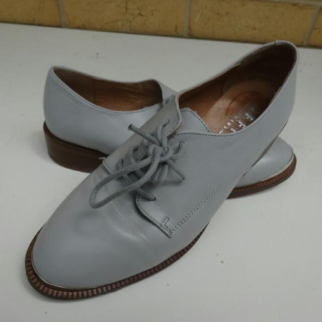 Sz 6 Office UK Brand Grey Lace Up Shoe