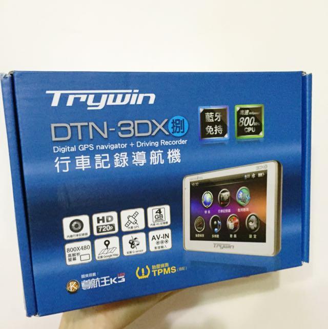(全新)Trywin DTN-3DX(捌) 18合一行車導航多功能整合機 / 贈保護套!