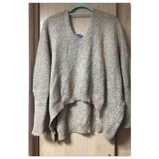 ✨淺灰針織毛衣✨