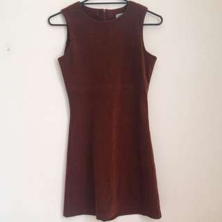 Brown 'felt' Dress