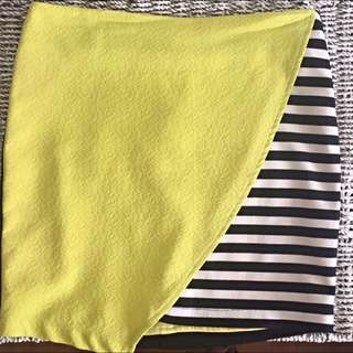 Lime And Stripe Skirt