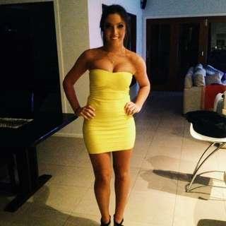 Tigermist Bodycon Yellow Dress