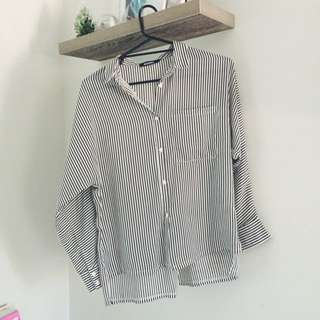 Misguided Striped Shirt
