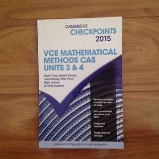 Cambridge Checkpoints VCE Mathematical Methods CAS Unit 3&4