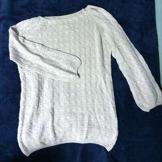 含運/藕色針織毛衣