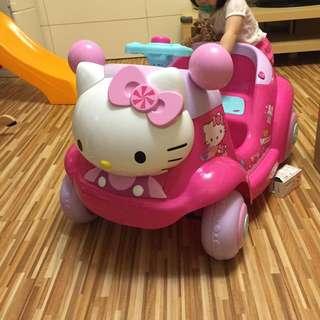 二手免運 kitty 電動車,有遙控