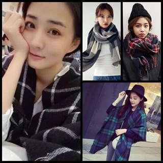 【現貨熱銷】今年秋冬最佳配件百搭款格紋圍巾