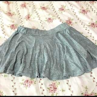 灰色棉質短裙