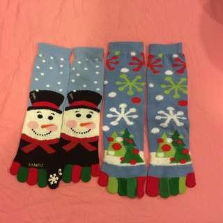 雪人耶誕襪