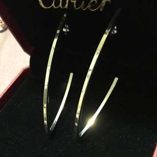 ✨歐美 簡約都會時尚 水鑽耳環✨