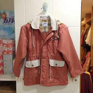男童女童皆可穿的中性款-內鋪棉厚大衣兒童外套(男童外套、女童外套)