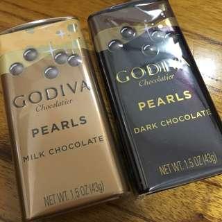 全新GODIVA巧克力豆🍫兩盒