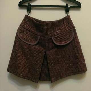 秋冬膝上短裙