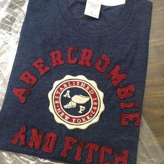 [全新/ 美國代購 /含稅含運費]A&F Abercrombie & Fitch 男生 短袖 T-shirt 藍色 / 聖誕禮物 /生日禮物