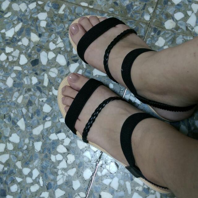 簡約涼鞋24.5(含運可小議)