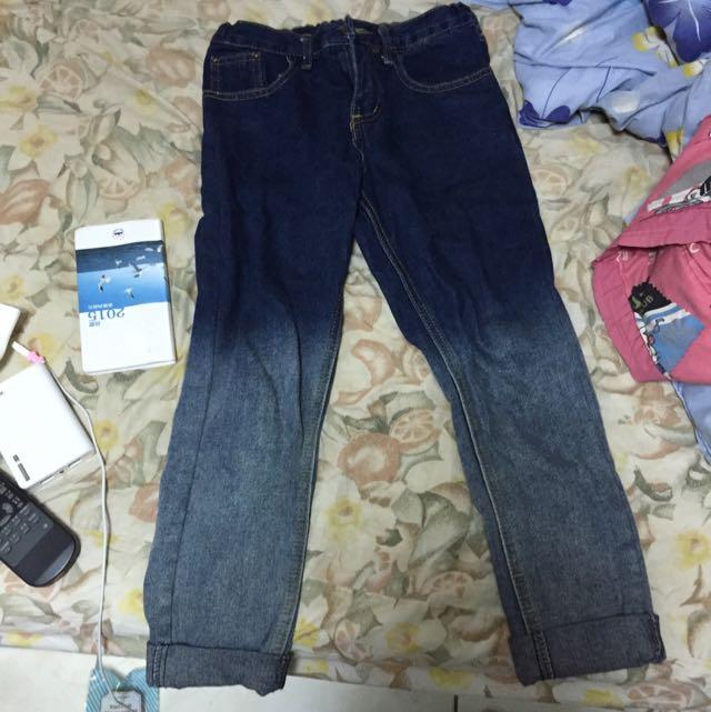 漸層牛仔褲