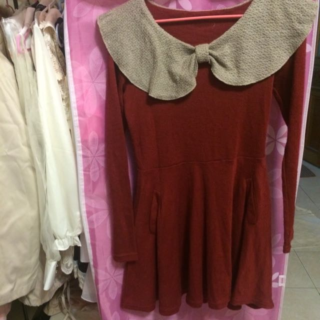 🌸大紅氣質洋裝
