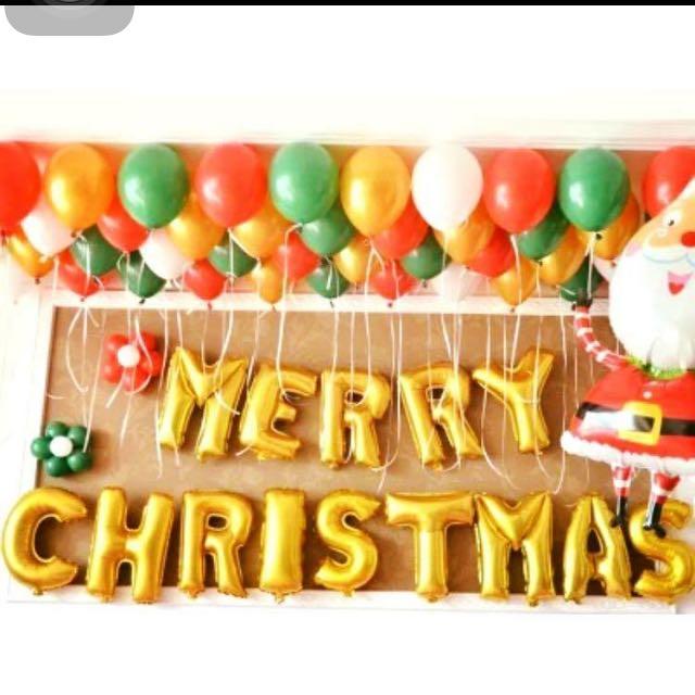 聖誕快樂氣球套餐🎈🎉🎊