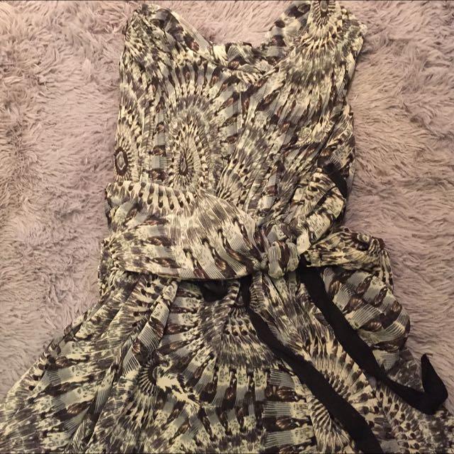💕雪紡圖騰洋裝💕