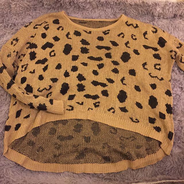 ❤️豹紋針織上衣❤️