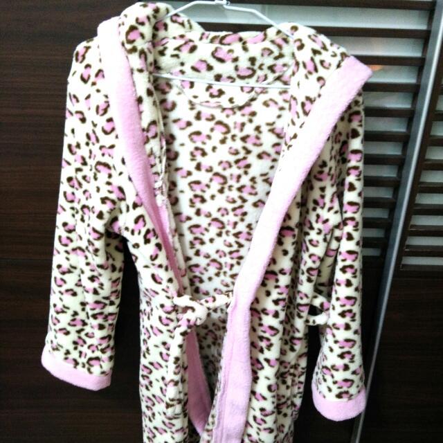 豹紋長浴袍