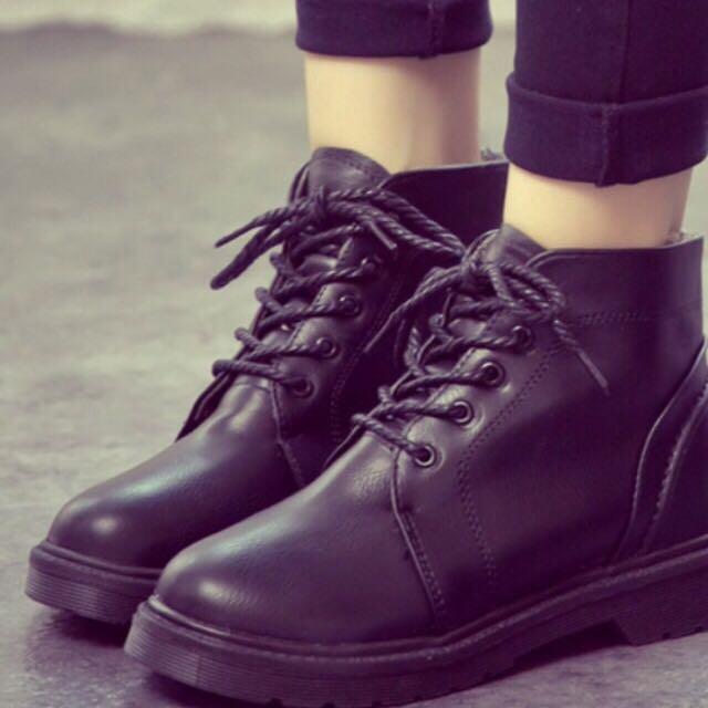 英倫風復古短靴 39號