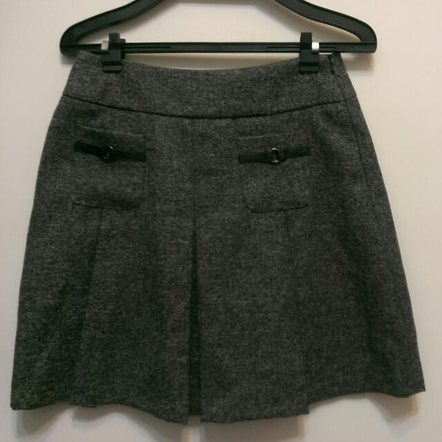 秋冬氣質灰色及膝裙